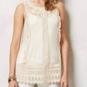 Anthropologie Moulinette Soeurs Lace Tunic